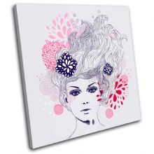 Floral female  Illustration - 13-1327(00B)-SG11-LO